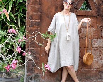 LINEN, Oversized Tunic, 3 Sizes, Various Colors