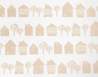 pastell tapete etsy. Black Bedroom Furniture Sets. Home Design Ideas