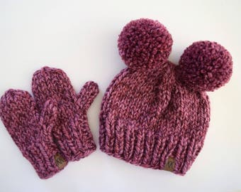 Child's Hat and Mitten Set