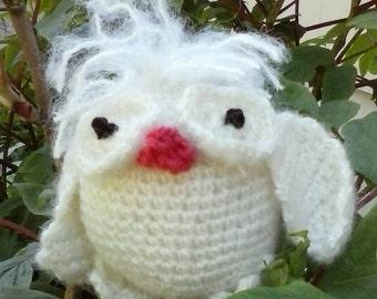 Amigurumi white owl  Baby albino owlet  Nursery themed decor  Baby toy  Baby shower gift