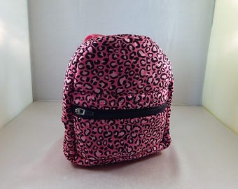 Mini backpack Child School Pretend Play Cheetah Hot Pink Back pack Ready to ship Accessories Pencil Bag Set