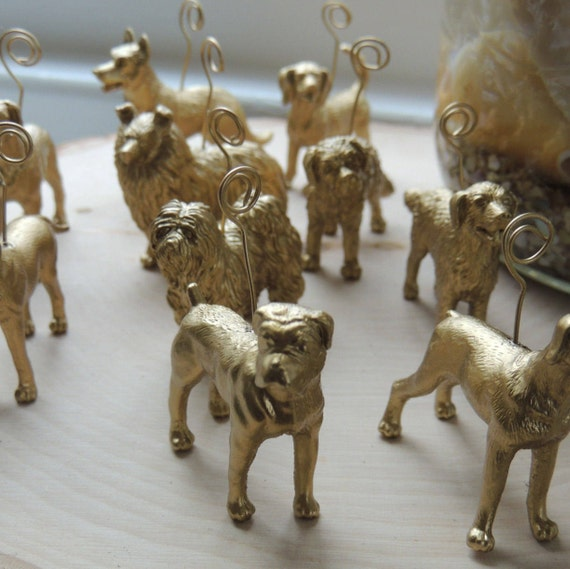 Items Similar To Gold Silver Animal Place Card Holder