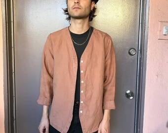 Linen Button Down Shirt - M