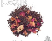 Freyr Devotional Tea - loose leaf black tea, peach rose tea, forest god, woodland god, farm field god, god of the hunt, fertility god, Vanir