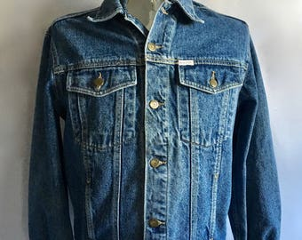 Vintage Men's 80's Guess, Jean Jacket, Denim, Long Sleeve (L)