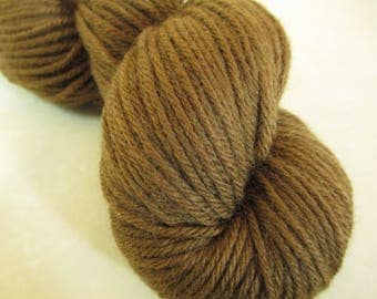 Walnut-Dyed Wool Yarn - Hand-Dyed Worsted Weight - Local Color From Foraged Plants - YAW101722 - 100 grams
