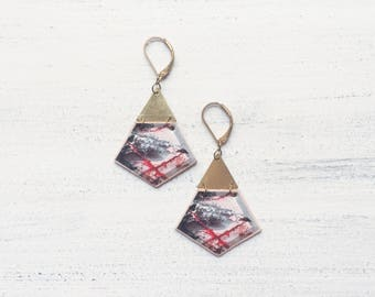 SIBU YANG geometric lightweight dangle earrings