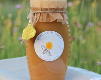 100% Pure Raw Organic Unfiltered Wildflower Honey 16 oz (1 lbs) From Texas.