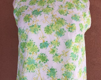 Vintage 60's - Hand made Sleeveless top with back buttons -