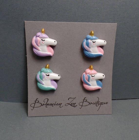 Unicorn Magnet Set - Fridge Magnets - Pastel Magnets - Fantasy Magnets - Pastel Unicorn - Kitchen Magnets - Unicorn Magnets