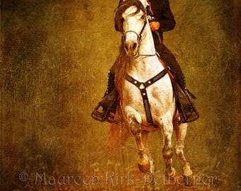 Andalusian horse, Mexican folk art, Mexican decor, restaurant, horse wall art large, horse decor, Andalusian, southwestern decor, canvas art