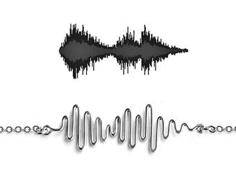 Sound Wave Necklace - Soundwave Necklace, Soundwave Jewelry, Personalized Gift, Proposal Ideas