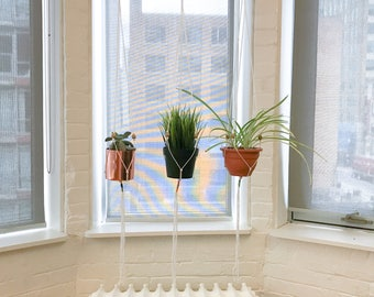 Mini Macrame Plant Hangers - made with 100% cotton twine