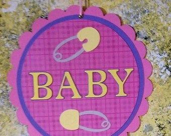 Baby Girl Banner, Baby Banner, Baby Shower Banner, Hospital Door Sign, Lamb Baby Banner