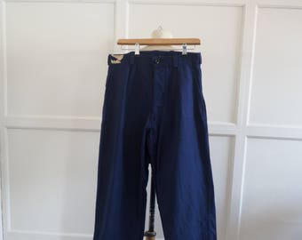 Vintage French chore trousers S M