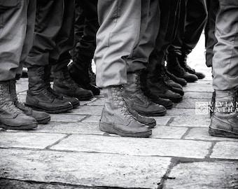 Jerusalem street photography,  black and white photography, Jerusalem prints,  military black and white photography, Israel prints