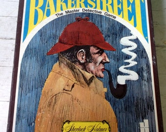 Vintage 1977 Hansen Game H-23 221 B Baker Street The Master Detective Game Sherlock Holmes with extra game sets and clues