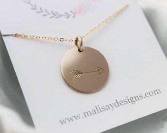 simple arrow necklace