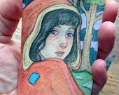 Red Riding Hood....Original ACEO