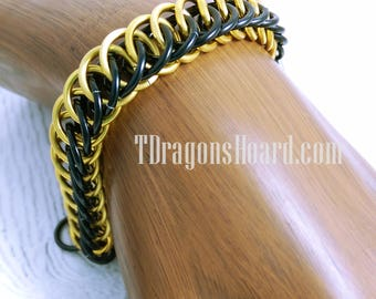 Half Persian 4 in 1 Bracelet - Choice of Silver/Black or Gold/Black