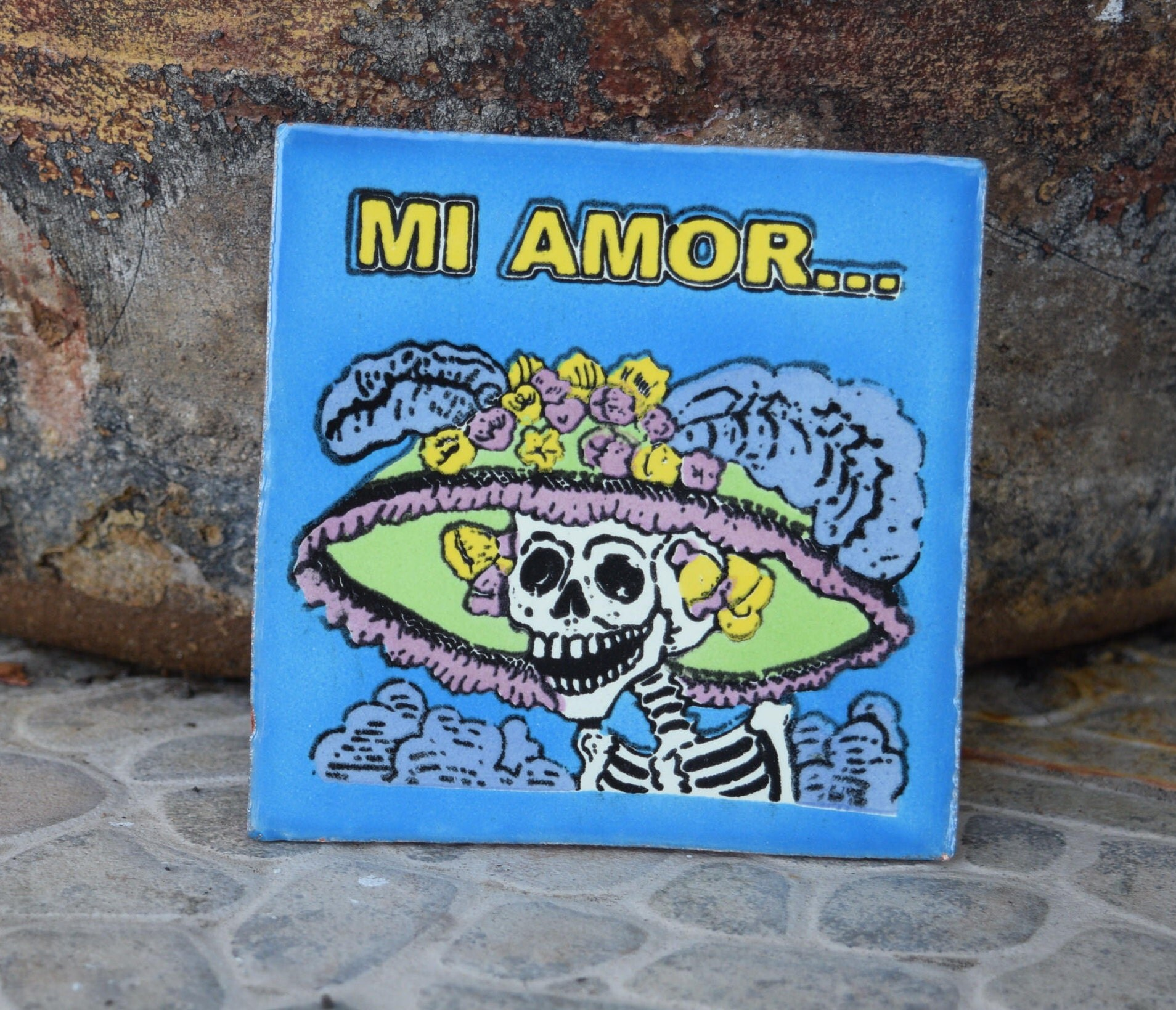 Catrina ceramic tile dia de los muertos day of the dead details catrina ceramic tile dailygadgetfo Choice Image