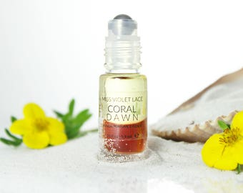 Coral Dawn perfume essence | Scent with Jasmine, Citrus and plant extracts | 100% natural and vegan