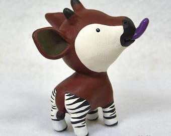 Hand Sculpted Okapi Derp Figurine