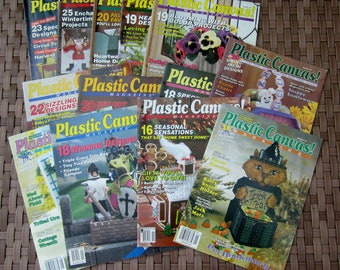 13 PLASTIC CANVAS! Magazines LOT 1990 - 1998 Back Issues The Needlecraft Shop