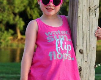 Beach Tank Top - Beach Shirts - Lake Life - Camping Shirt - Girls Lake Shirts - Summer Tops - Beach Vacation Shirts - Gift for her - Gift