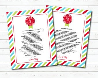 Welcome & Goodbye Elf Letter, Elf on the Shelf Cards, Elf Correspondence, Christmas Cards, Printable Holiday, Santa Claus Mail, Personalized