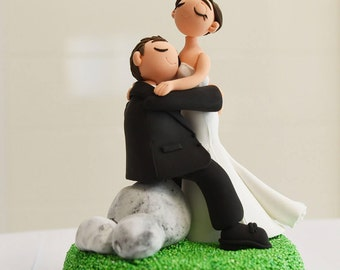 Cute couple wedding cake topper