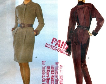 Vogue American Designer 2597 Sewing Pattern by Geoffrey Beene for Misses' Dress and Jumpsuit - Uncut - Size 8, 10, 12