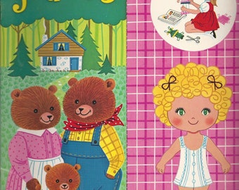 Vintage Goldilocks Story to Read and Play-Along Paper Doll Book, C1972