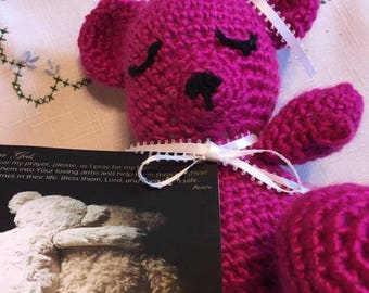 I'm Praying for You Crochet Bear Prayer Get Well