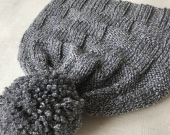 Grey hat Knit Hat Wool hat Soft hat Hat for her Handmade hat Hat for winter Hat for her READY TO SEND