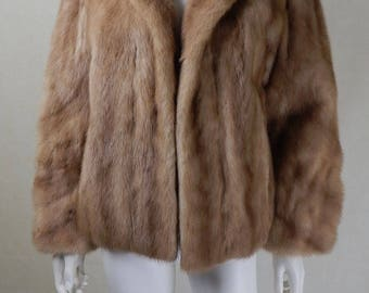 Original 1950s Blonde Mink Jacket UK Size 12/14