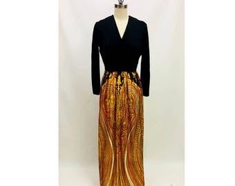 Vintage Psychedelic Maxi Dress