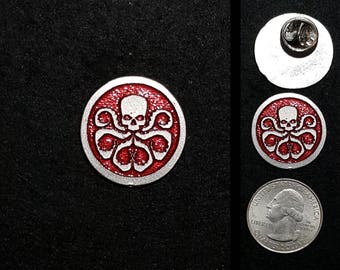 Hydra Pewter Lapel Pin or Magnet