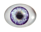 Purple Doll Oval Glass Eyes - Choose Your Size: 13mm x 18mm, 18mm x 25mm, 30mm x 40mm - Doll Making Eyes - Human, Jewelry, Sculpture, Parts