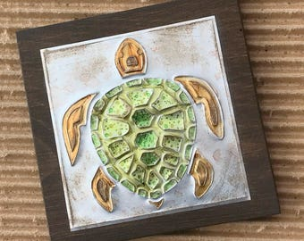 Upcycled Metal Soda Pop Can Sea Turtle