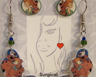Scooby Doo Earrings Gift Set - Cartoon Jewlery - Nostalgia Jewellery