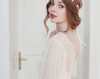 Pearl Wreath, Bridal Headband, Pearl Hair Vine, Pearl Headband, Rhinestone Headpiece, Wedding Headpiece, Wedding Headband