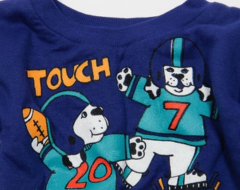 Toddler 3T Vintage 1990s Kids Football Sweatshirt 4DD