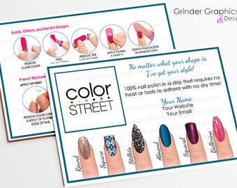 """Color Street Twosie Postcard 4"""" x 6"""" Personalized, Marketing Material, Postcards Digital Download"""