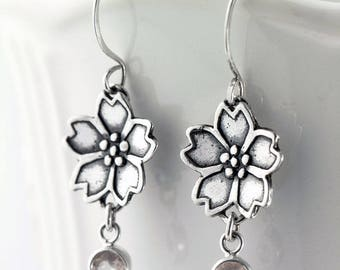 Sakura Cherry Blossoms Earrings