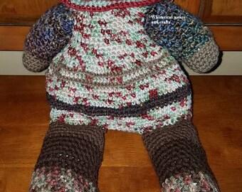 Worry monster, Plastic bag stuffer baggler, pj pajama overnight bag, crochet