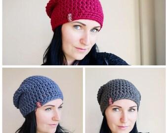 Crochet Hat / Slouchy Beanie / Beanie hat / Slouchy Hat / Knit Hat / Knit hat women