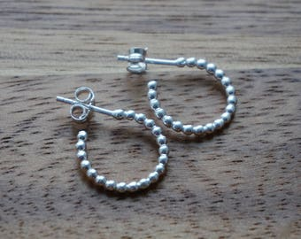 hoop earrings, silver hoops, silver hoop earrings, boho earrings, small hoop earrings, small hoops, sterling silver, earrings, hoops, gift