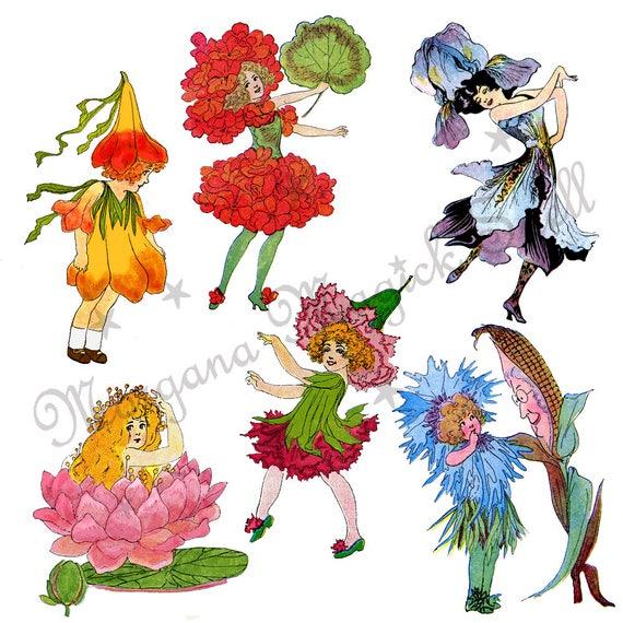 6 Vintage Fairies
