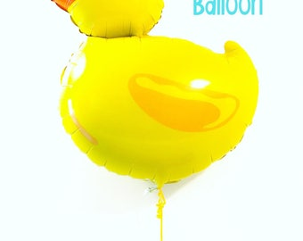 Rubber Ducky Duck Balloon for Birthday Party Baby Shower First Birthday Decor